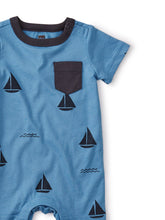 Tea Collection Printed Pocket Romper - Sailboats - Bloom Kids Collection - Tea Collection