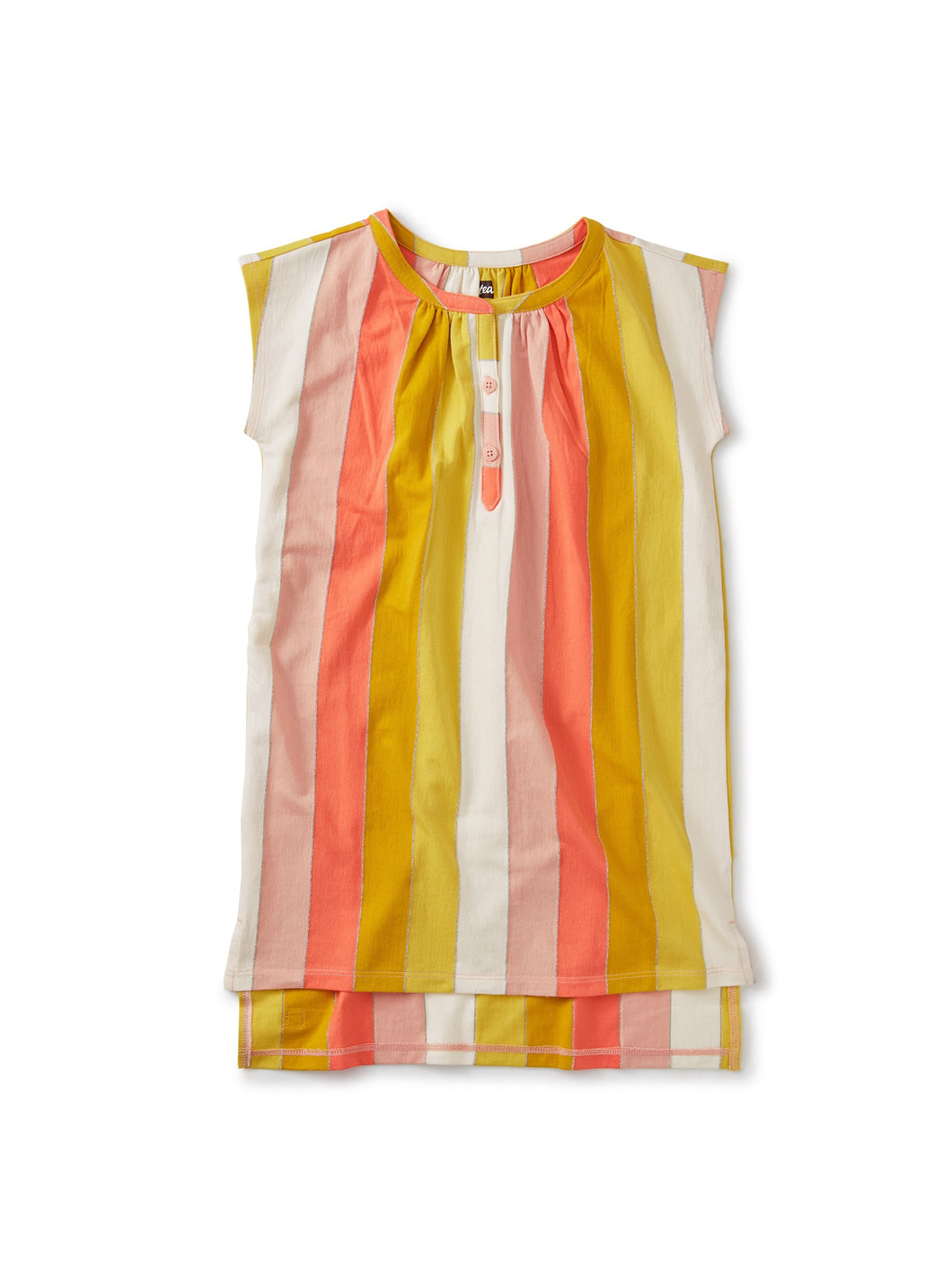 Tea Collection Metallic Stripe Kaftan Dress - Dusty Coral - Bloom Kids Collection - Tea Collection