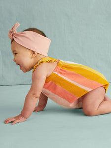 Tea Collection Cross-Back Romper - Dusty Coral - Bloom Kids Collection - Tea Collection
