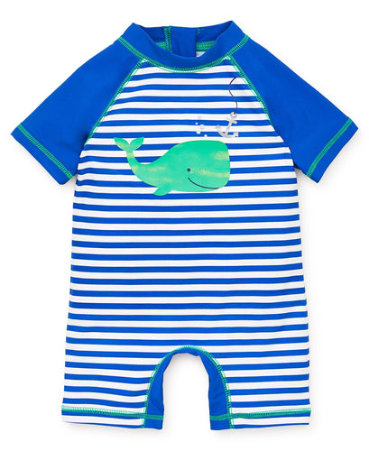 Little Me Whale Rash Guard Suit