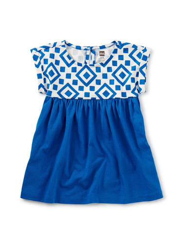 Tea Collection Empire Baby Dress - Greek Tile