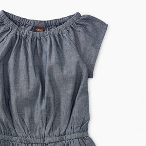 Tea Collection Chambray Flutter Sleeve Romper - Bloom Kids Collection - Tea Collection
