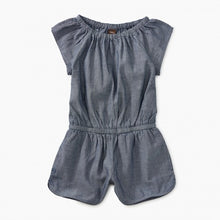 Tea Collection Chambray Flutter Sleeve Romper