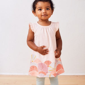 Tea Collection Border Graphic Dress - Silkworm - Bloom Kids Collection - Tea Collection