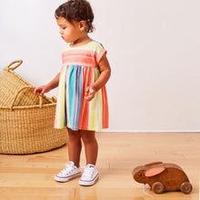 Tea Collection Empire Dress - Watercolor Stripe - Bloom Kids Collection - Tea Collection