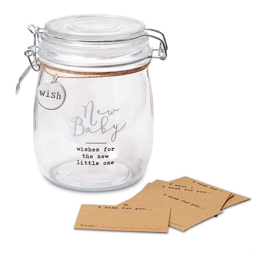 Mud Pie New Baby Sentiment Jar