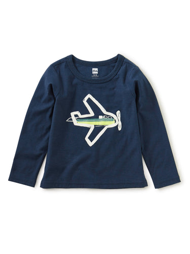 Tea Collection Take Flight Glow Graphic Tee - Whale Blue