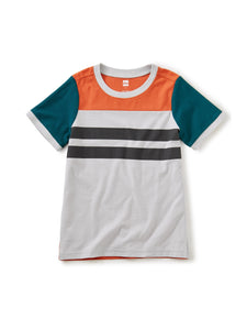 Tea Collection Sporty Colorblock Tee - Oyster Grey