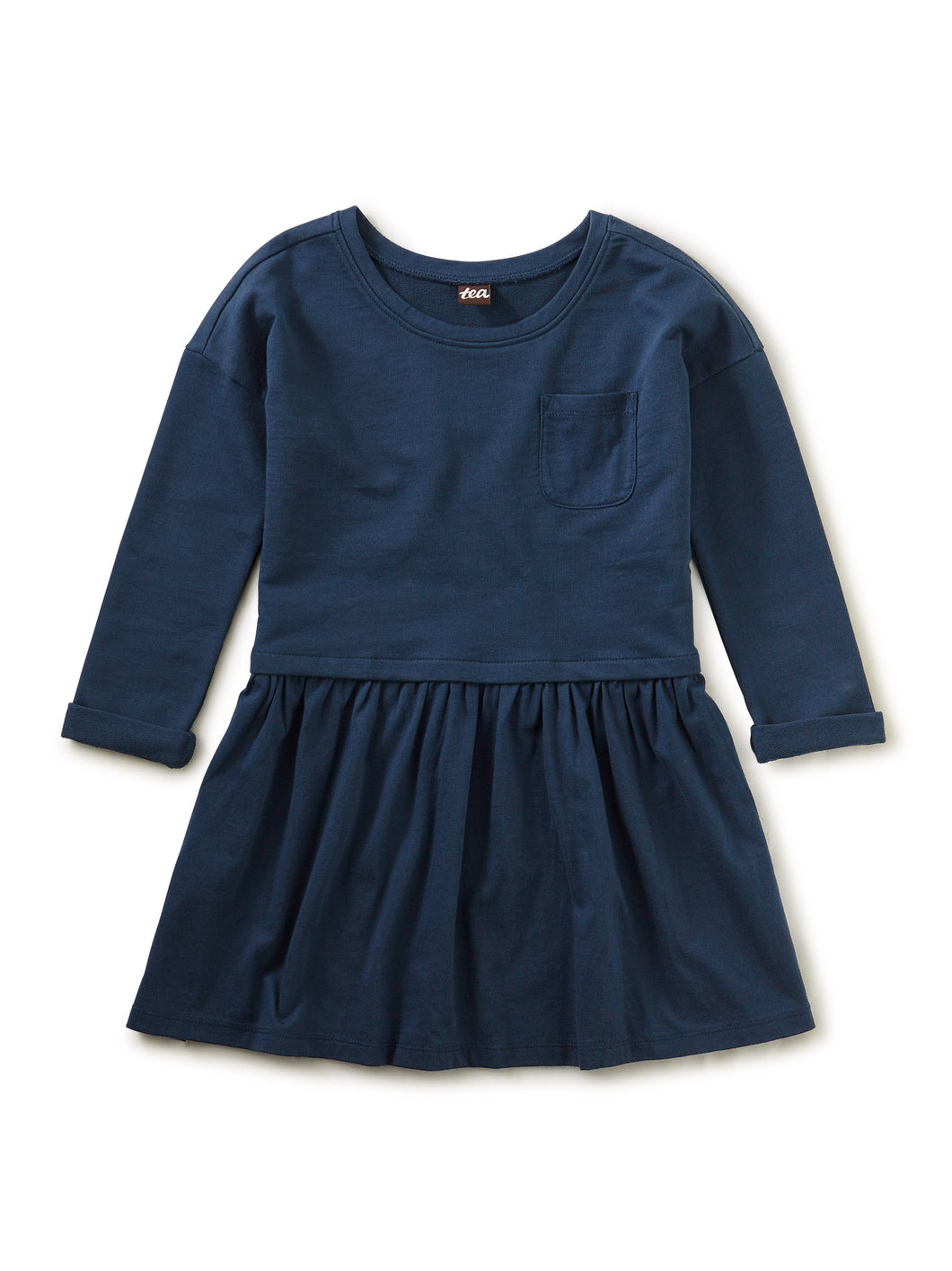 Tea Collection Pocket Play Dress - Whale Blue