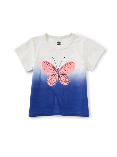 Tea Collection Butterfly Dip-Dye Graphic Tee - Chalk