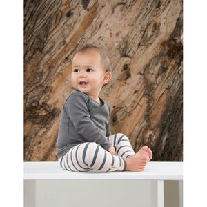 L'ovedbaby Organic Leggings - Coral Stripe - Bloom Kids Collection - L'ovedbaby