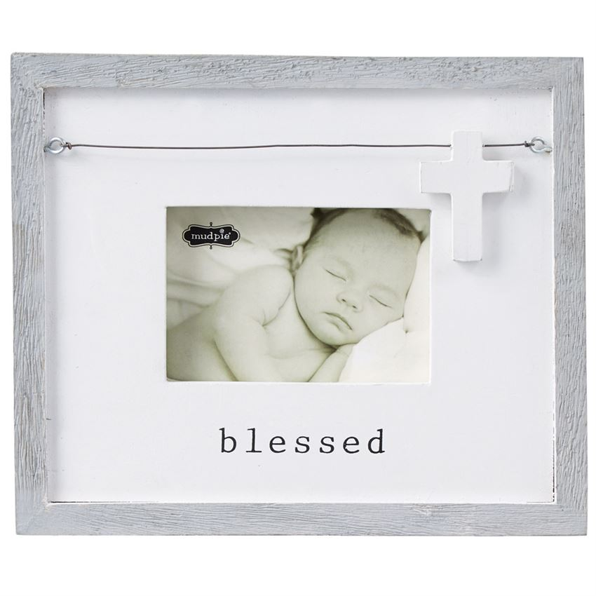 Mud Pie Blessed Frame - Bloom Kids Collection - Mud Pie