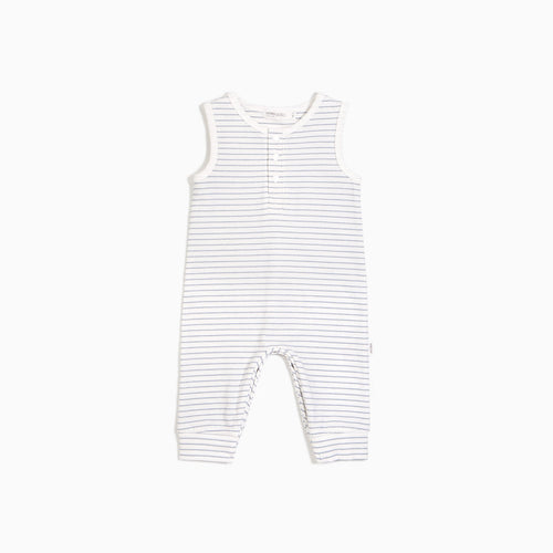 Miles Baby Sleeveless Candy Sky Striped Playsuit - Off White