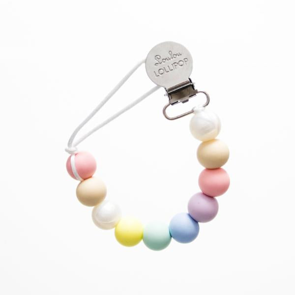 Loulou Lollipop Pacifier Clip - Cotton Candy - Bloom Kids Collection - Loulou Lollipop