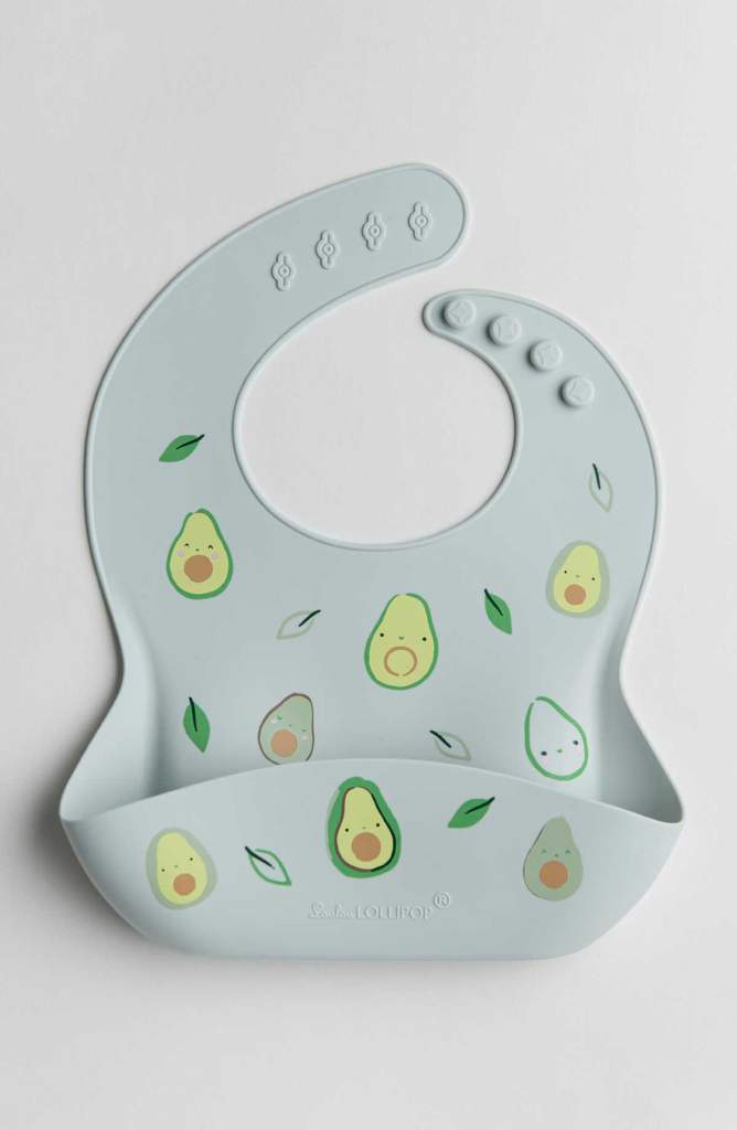 Loulou Lollipop Silicone Bib Printed - Avocado