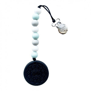 Loulou Lollipop Teether - Chocolate Cookie with Holder - Bloom Kids Collection - Loulou Lollipop