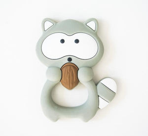 Loulou Lollipop Teether - Grey Raccoon - Bloom Kids Collection - Loulou Lollipop