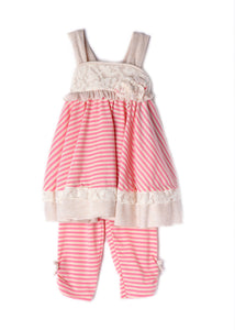 Isobella and Chloe Sweet Pea - 2 Piece Set - Bloom Kids Collection - Isobella & Chloe