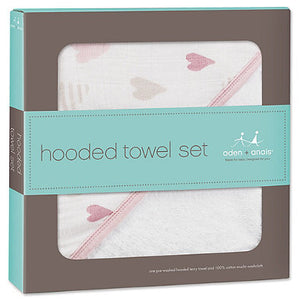 Aden + Anais Hooded Bath Set - Heartbreaker - Bloom Kids Collection - Aden + Anais