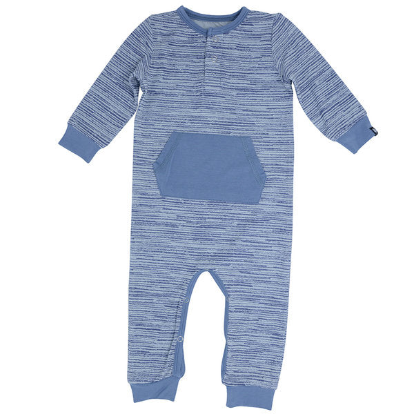 Sweet Bamboo Pocket Romper - Blue Chalk - Bloom Kids Collection - Sweet Bamboo