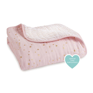 Aden + Anais Classic Dream Blanket Shimmer Metallic Primrose Bloom Kids Collection