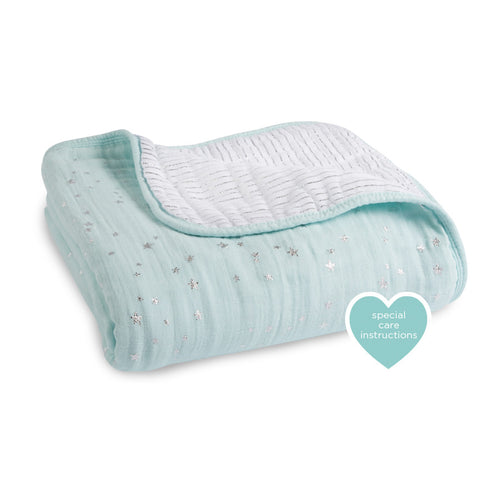 Aden + Anais Classic Dream Blanket - Metallic Skylight - Bloom Kids Collection - Aden + Anais