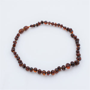 Lemon Vines Polished Cognac Baltic Amber Necklace - Bloom Kids Collection - Lemon Vines