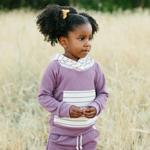 Lulu + Roo Hoodie - Fig & Woven Stripe - Bloom Kids Collection - Lulu + Roo