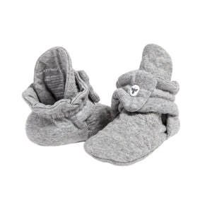 Burt's Bees Quilted Bee Organic Baby Booties - Heather Grey