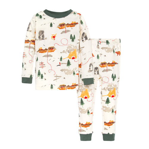 Burt's Bees Sightseeing Organic Snug Fit Pajamas - Spinach