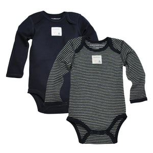 Burt's Bees Bee Essentials Organic Long Sleeve Bodysuits (2 Pack) - Blueberry