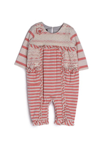 Isobella & Chloe Strawberry Crème Romper - Bloom Kids Collection - Isobella & Chloe