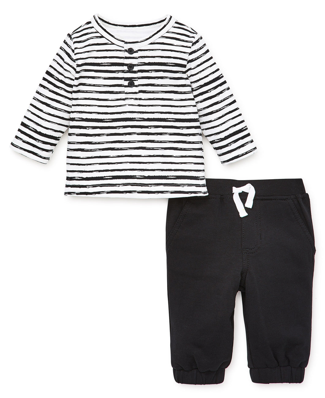 Focus Kids Tee and Jogger Set - Stripe - Bloom Kids Collection - Focus Kids