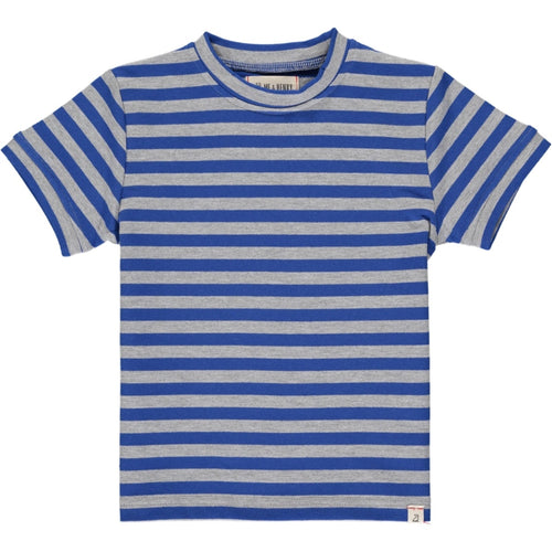 Me & Henry Camber Tee - Royal Grey Stripe