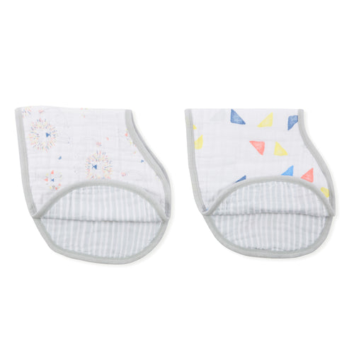 Aden + Anais Classic Burpy Bib - Leader of the Pack 2-pack - Bloom Kids Collection - Aden + Anais