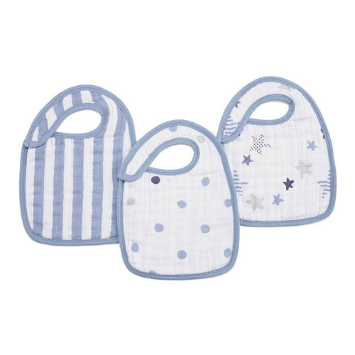 Aden + Anais Classic Snap Bibs - Rock Star 3-pack - Bloom Kids Collection - Aden + Anais