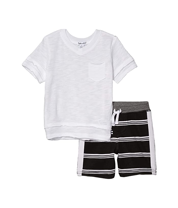 Splendid Baby Boy Stripe Short Set - White Veranda - Bloom Kids Collection - Splendid
