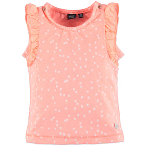 Babyface Girls Ruffle Sleeve Tee - Peach Pink - Bloom Kids Collection - Babyface