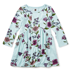 Tea Collection Glenna Pierced Dress Canal Blue 7F12327 Bloom Kids Collection