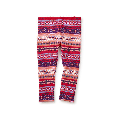 Tea Collection Fair Isle Stripe Baby Leggings Cherry 7F32206 Bloom Kids Collection