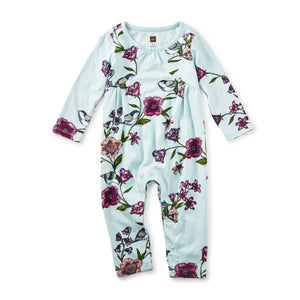 Tea Collection Glenna Pieced Romper Canal Blue 7F32509 Bloom Kids Collection