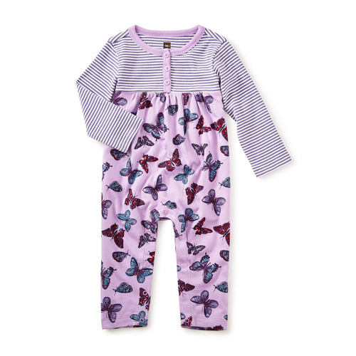 Tea Collection Sorcha Henley Romper - Bloom Kids Collection - Tea Collection