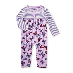 Tea Collection Sorcha Henley Romper Lilac 7F32511 Bloom Kids Collection