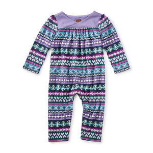 Tea Collection Islay Wrap Neck Romper Fair Isle 7F32512 Bloom Kids Collection