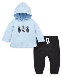 Focus Kids Pineapple Sweatshirt Set - Blue - Bloom Kids Collection - Focus Kids