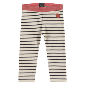 Babyface Girls Stripe Legging - Ivory