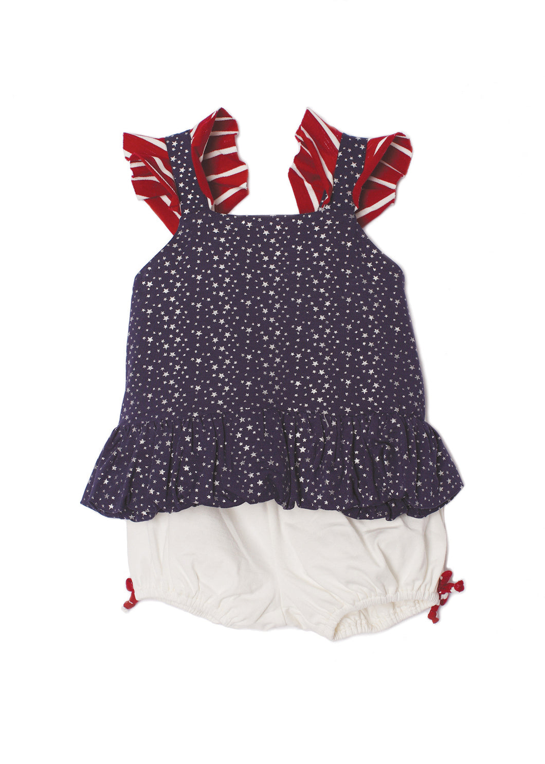 Isobella and Chloe Pearlette Bloomer Set - Blue - Bloom Kids Collection - Isobella and Chloe