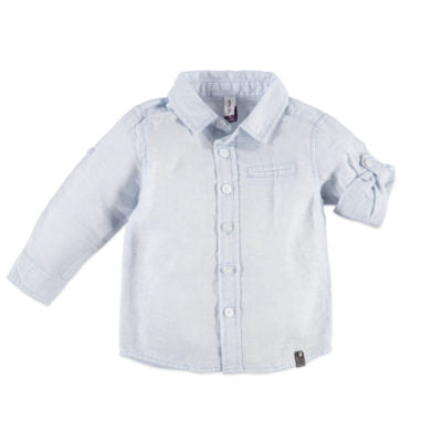 Babyface Long Sleeve Button Up - Light Blue - Bloom Kids Collection - Babyface