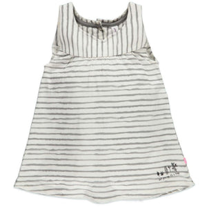 Babyface Striped Dress - Desert Grey - Bloom Kids Collection - Babyface
