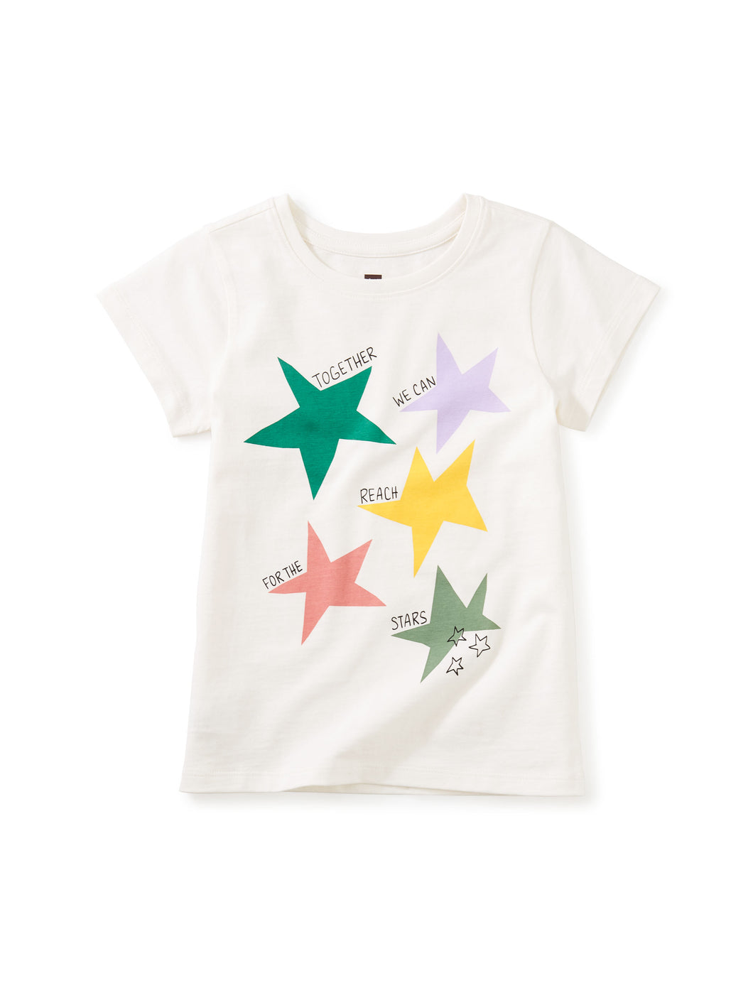 Tea Collection Reach for the Stars Tee - Chalk